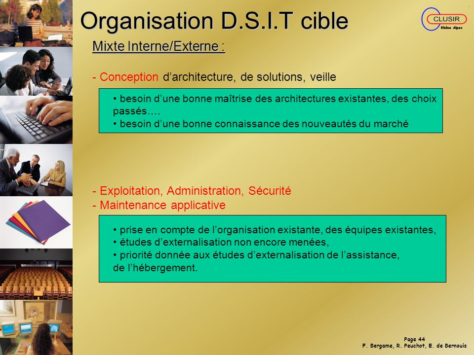Organisation D.S.I.T cible