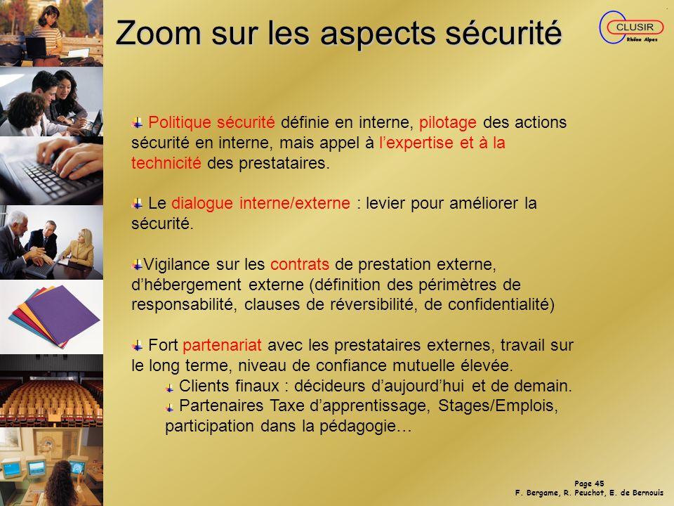 Zoom sur les aspects sécurité