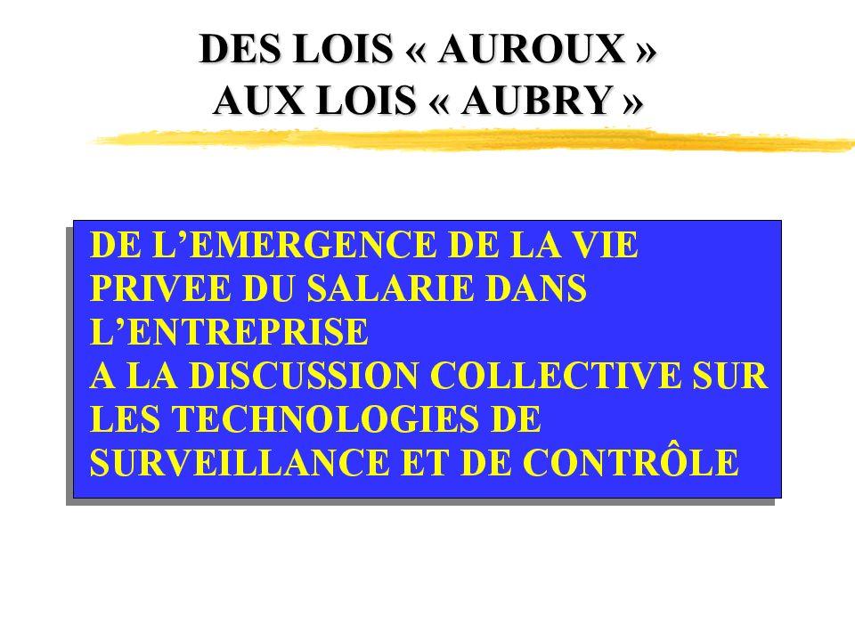 DES LOIS « AUROUX » AUX LOIS « AUBRY »