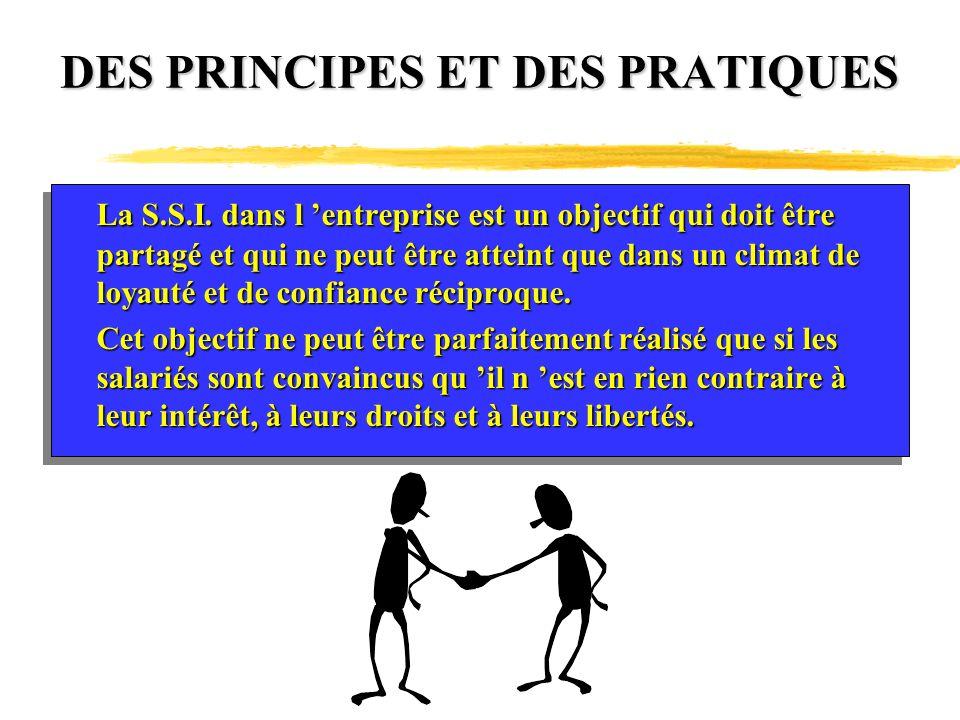 DES PRINCIPES ET DES PRATIQUES