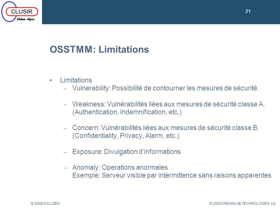 OSSTMM: Limitations Limitations