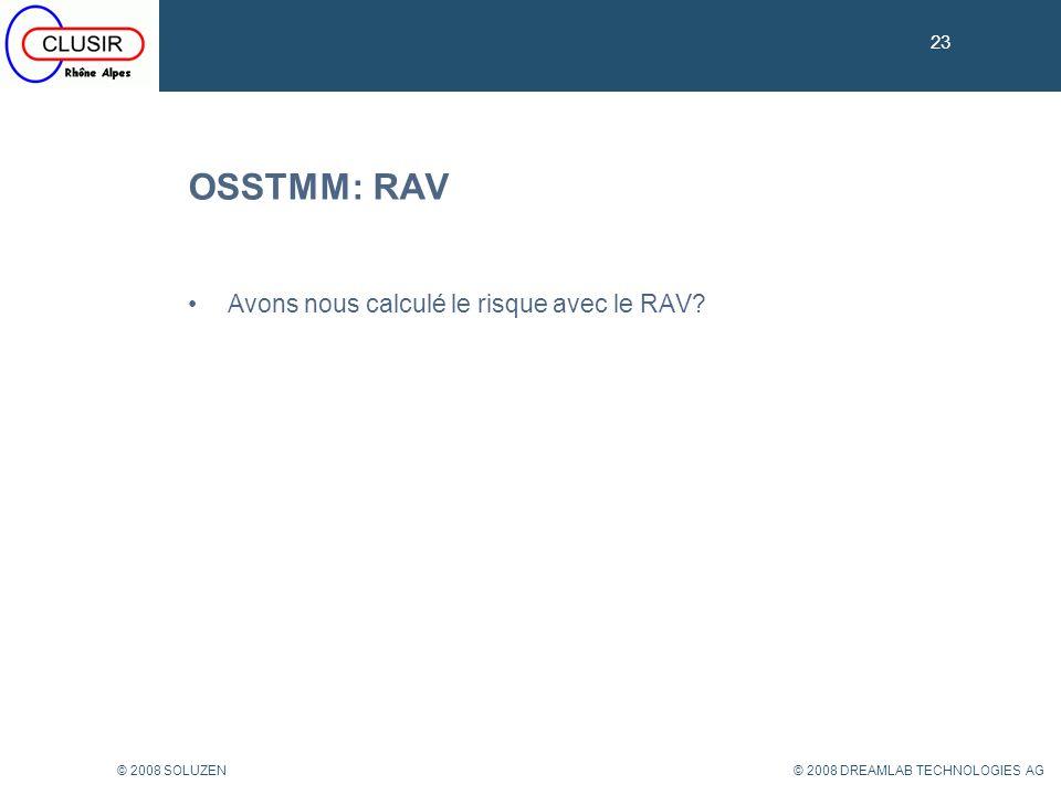 OSSTMM: RAV Avons nous calculé le risque avec le RAV 23