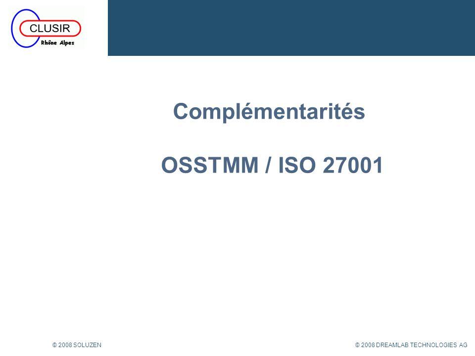 Complémentarités OSSTMM / ISO 27001