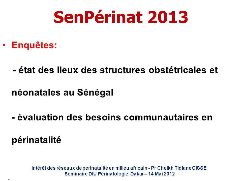 Séminaire DIU Périnatologie, Dakar – 14 Mai 2012