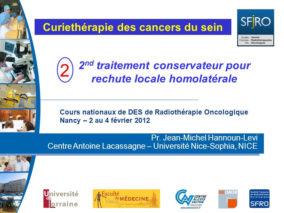 Curiethérapie des cancers du sein