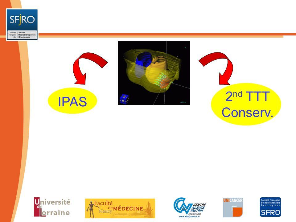 2nd TTT IPAS Conserv. Indications Choix pte TTTs primo-tumeur