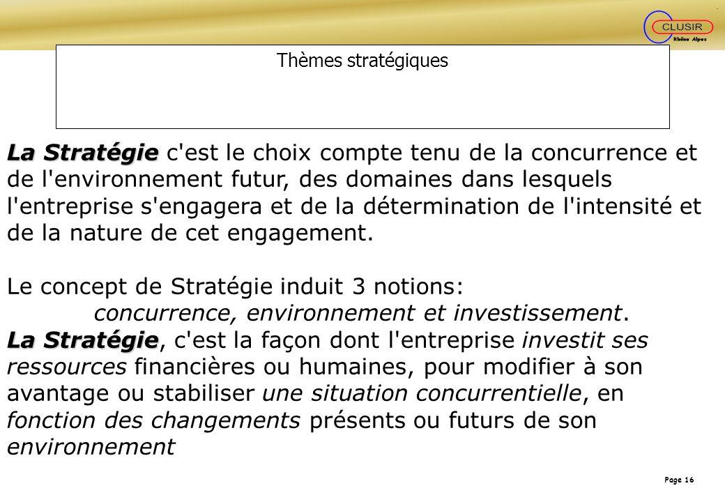 concurrence, environnement et investissement.