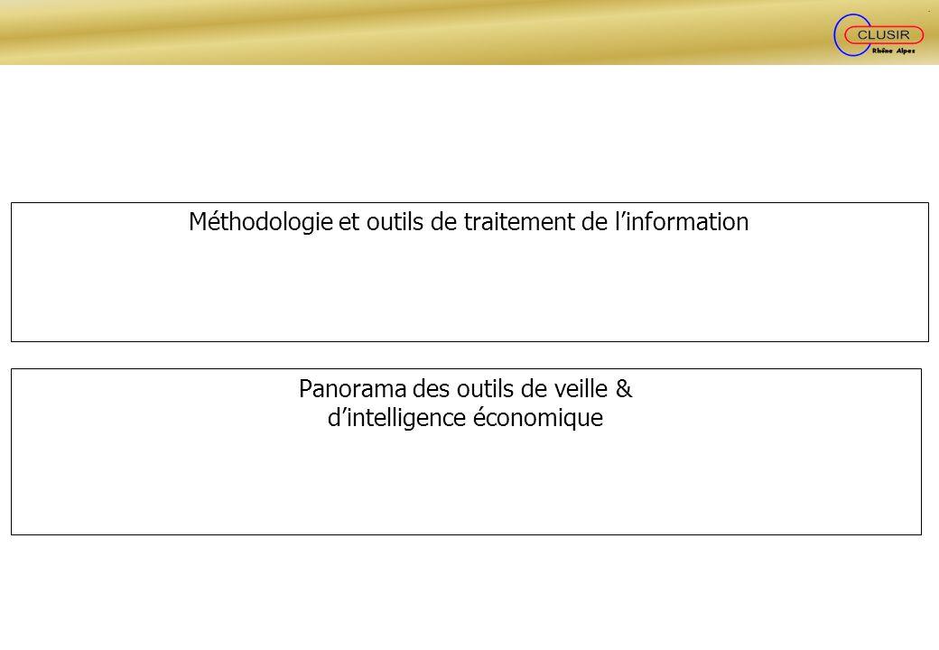 Méthodologie et outils de traitement de l'information
