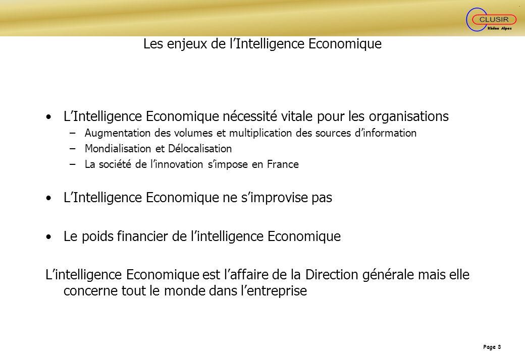 Les enjeux de l'Intelligence Economique
