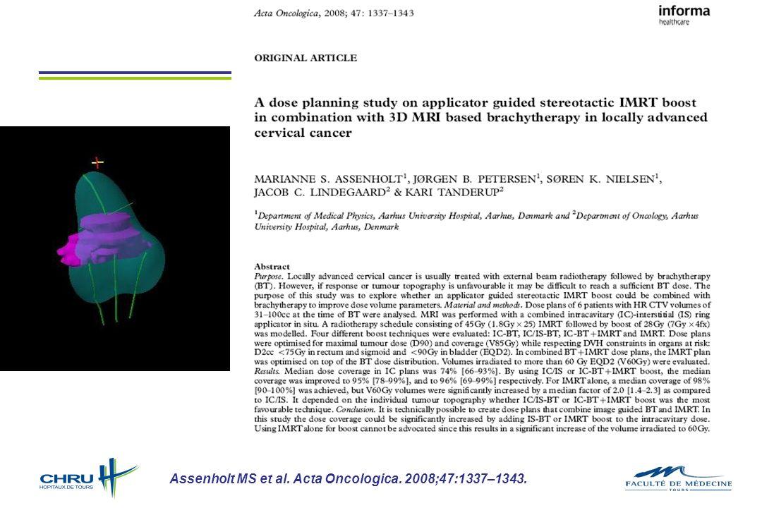 Assenholt MS et al. Acta Oncologica. 2008;47:1337–1343.
