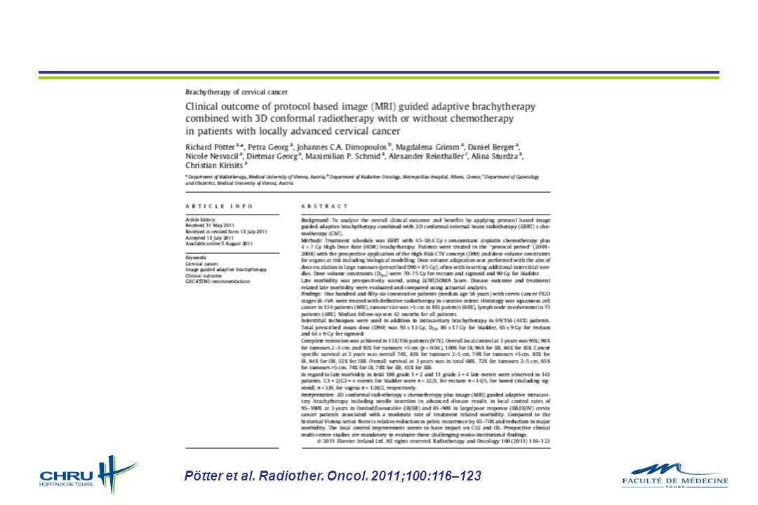 Pötter et al. Radiother. Oncol. 2011;100:116–123