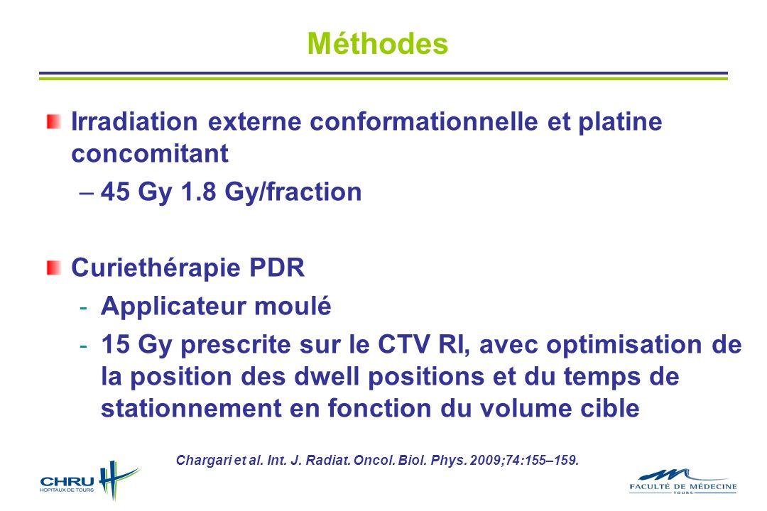 Méthodes Irradiation externe conformationnelle et platine concomitant