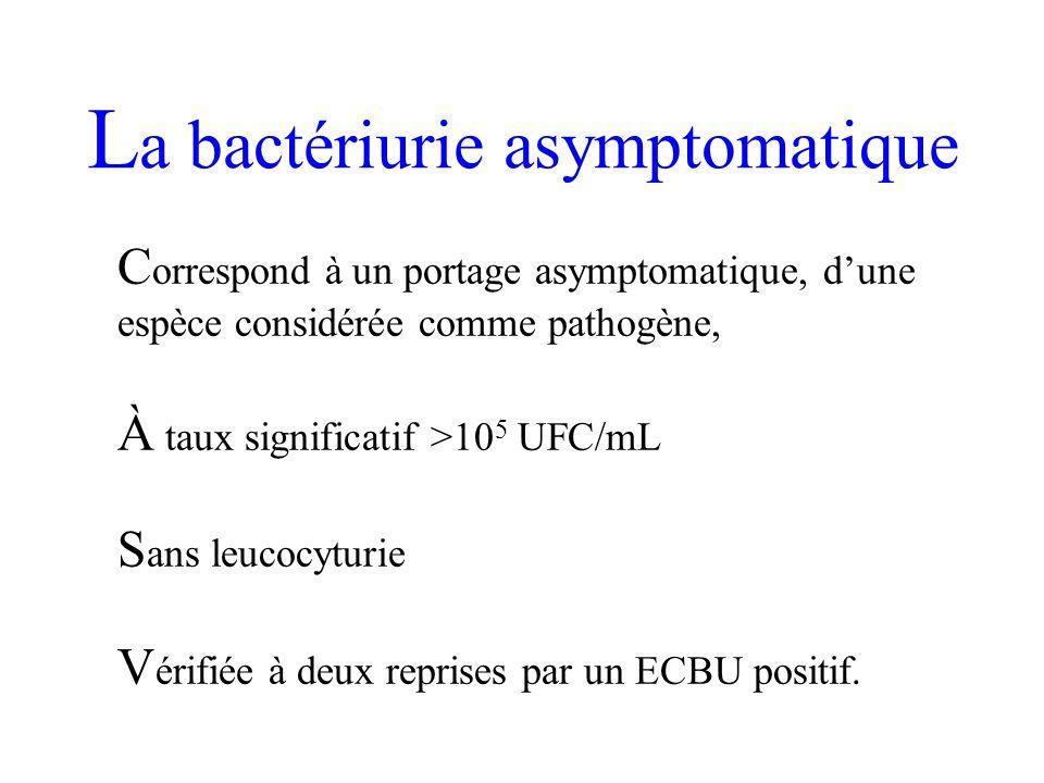 La bactériurie asymptomatique