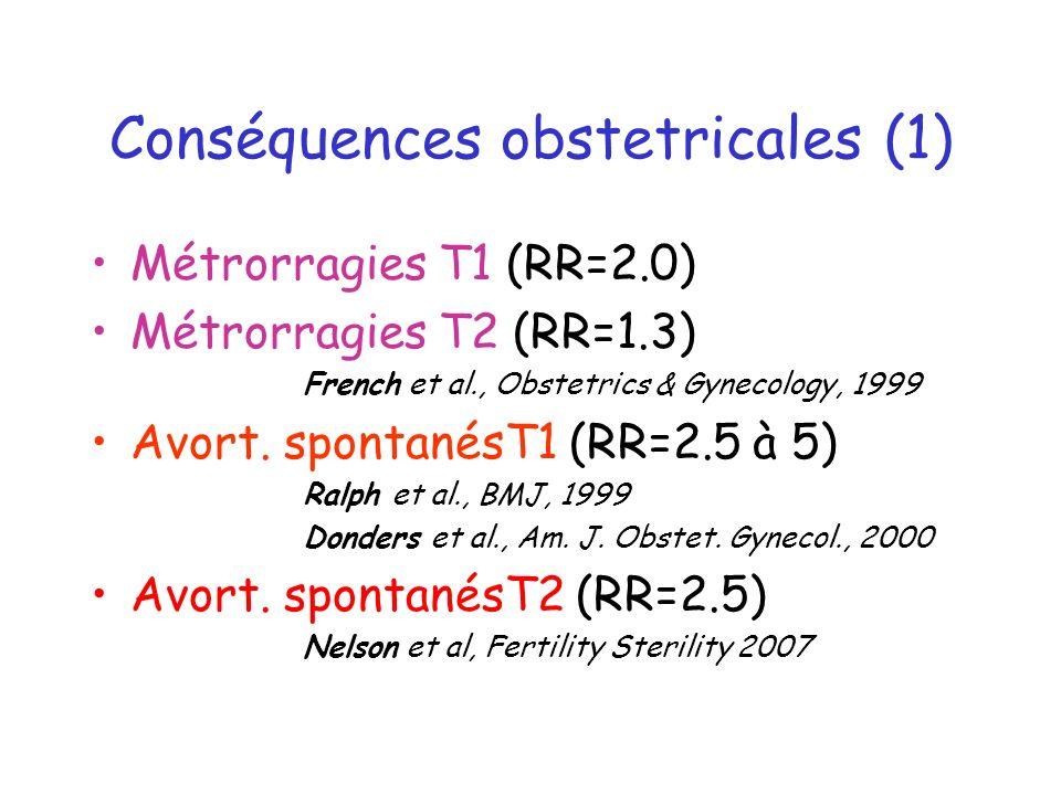 Conséquences obstetricales (1)