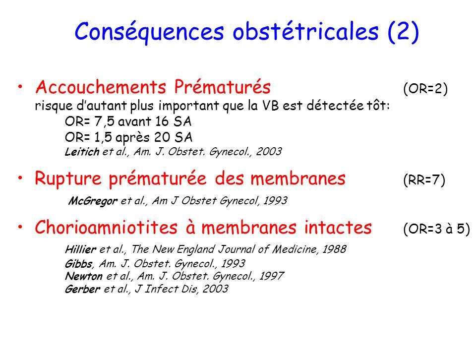 Conséquences obstétricales (2)