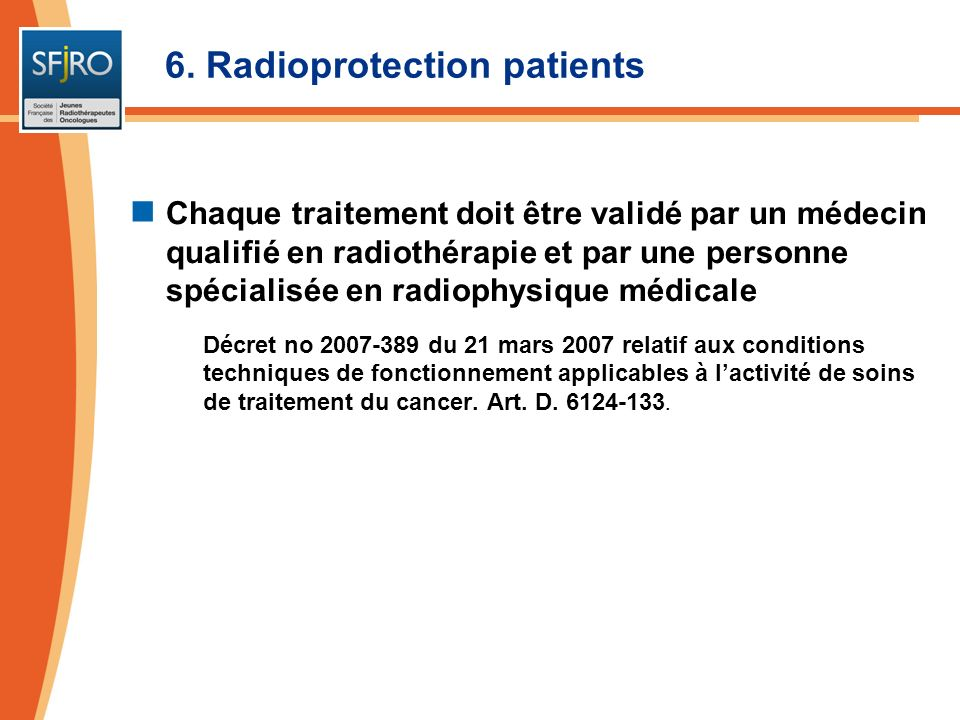 6. Radioprotection patients
