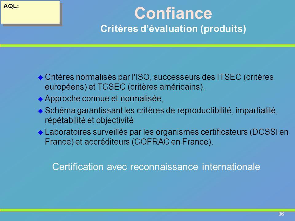 Critères d'évaluation (produits)