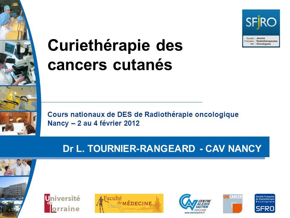Curiethérapie des cancers cutanés