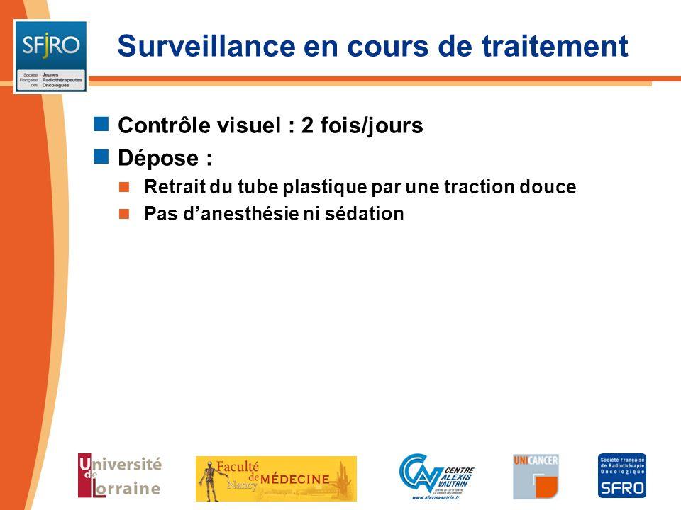 Surveillance en cours de traitement