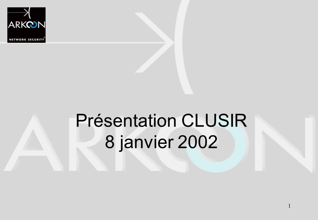 Présentation CLUSIR 8 janvier 2002