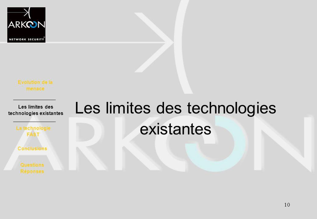 Les limites des technologies existantes