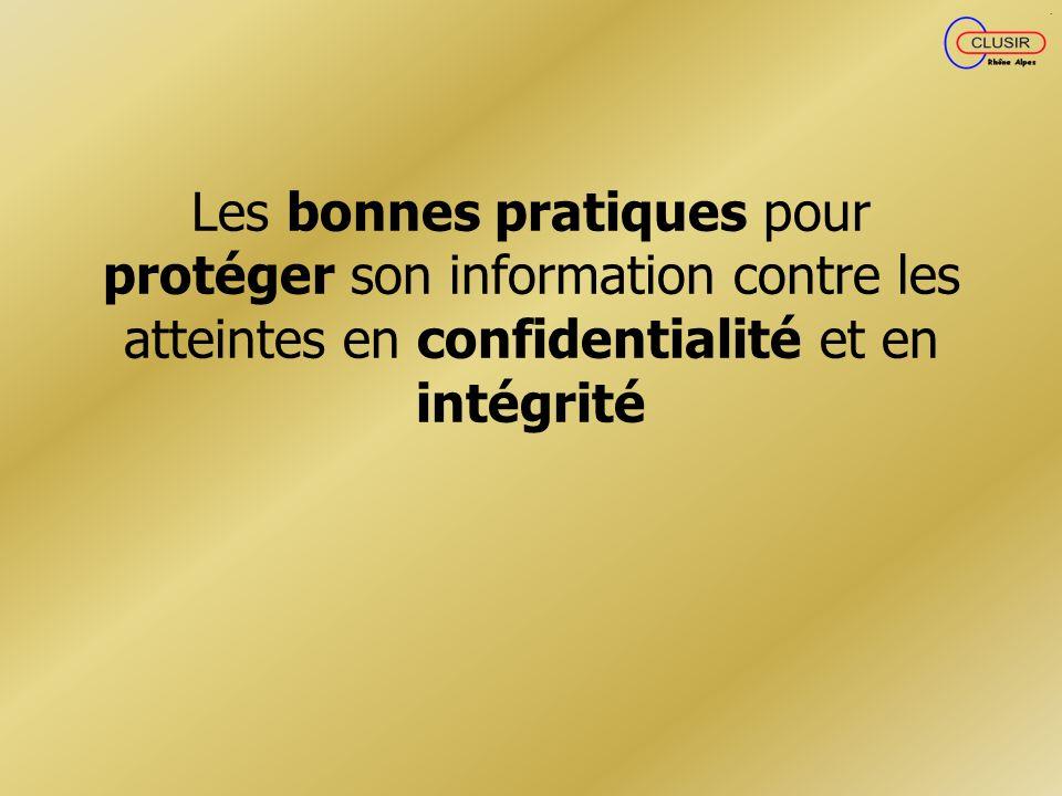Les bonnes pratiques pour protéger son information contre les atteintes en confidentialité et en intégrité