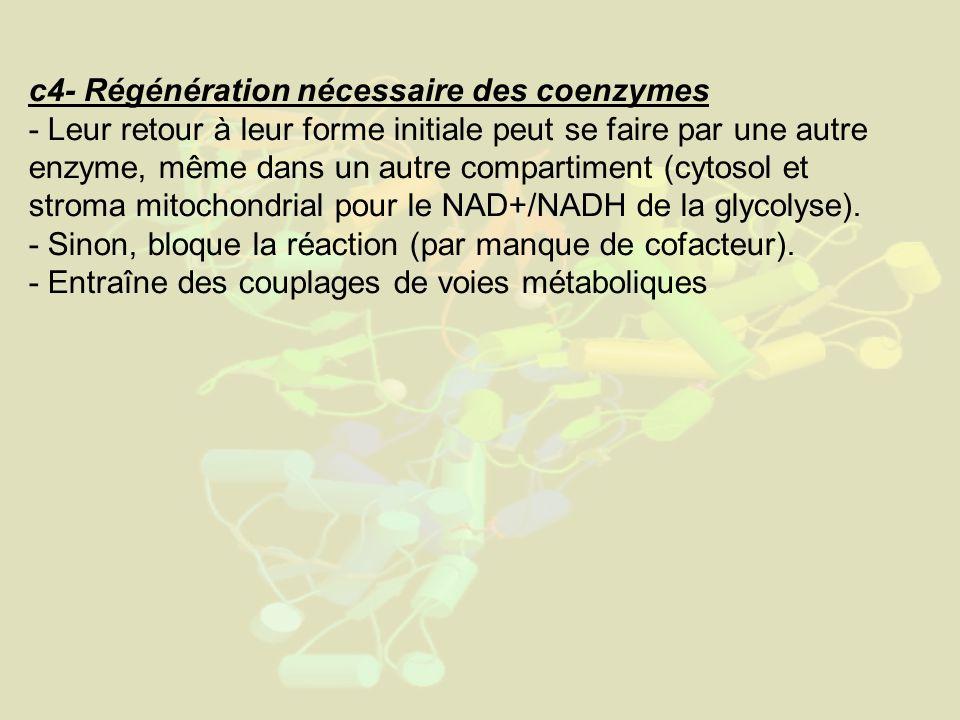 c4- Régénération nécessaire des coenzymes