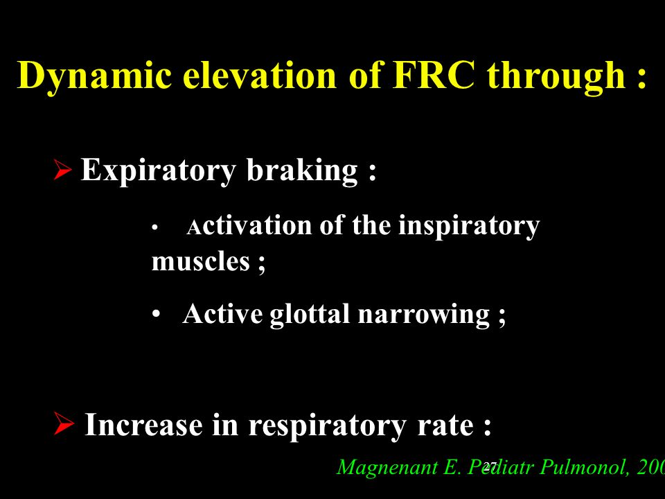 Dynamic elevation of FRC through :