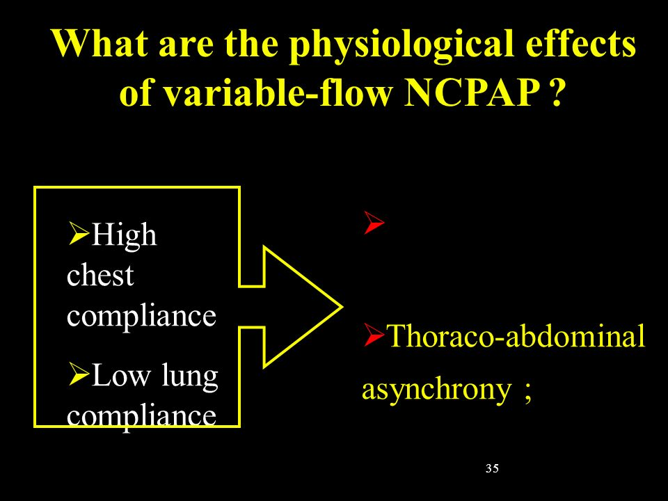 What are the physiological effects of variable-flow NCPAP