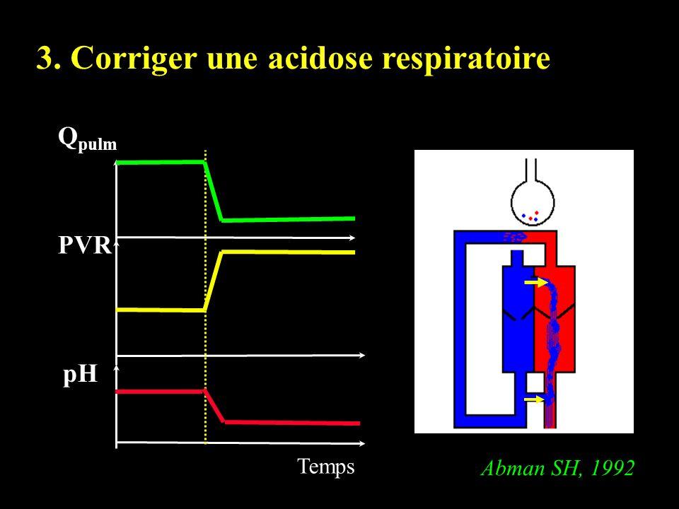 3. Corriger une acidose respiratoire