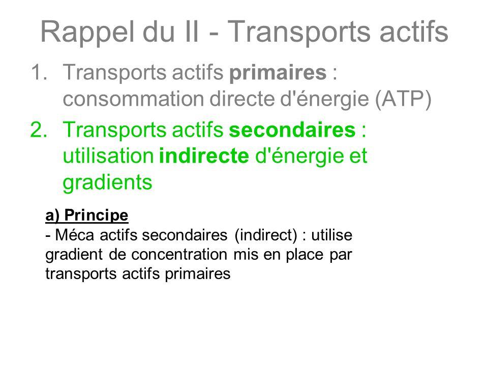 Rappel du II - Transports actifs