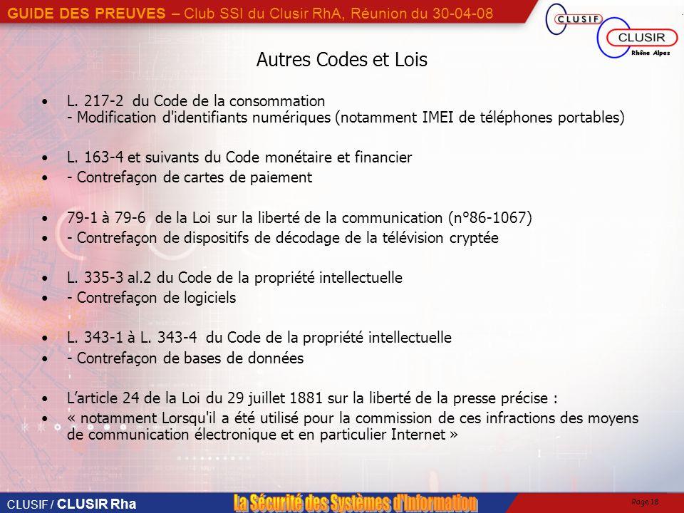 Autres Codes et Lois L. 217-2 du Code de la consommation - Modification d identifiants numériques (notamment IMEI de téléphones portables)