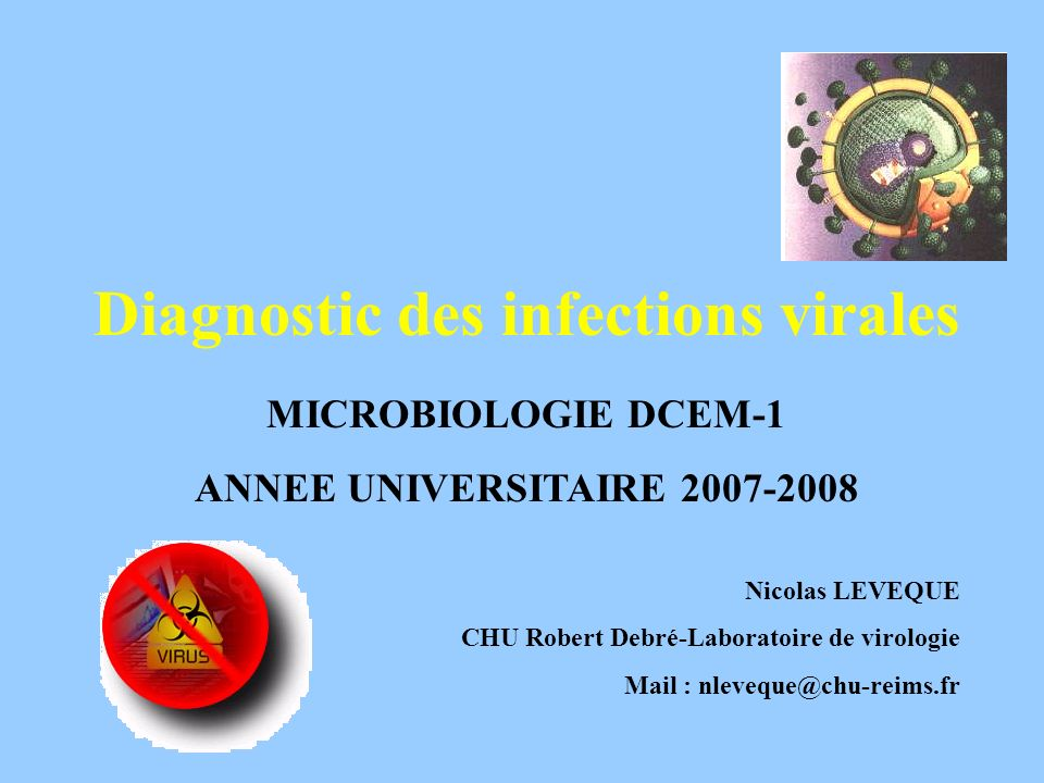 Diagnostic des infections virales