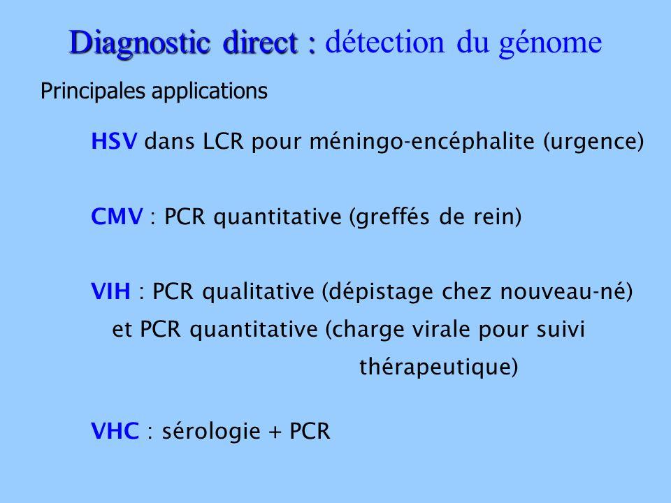 Diagnostic direct : détection du génome
