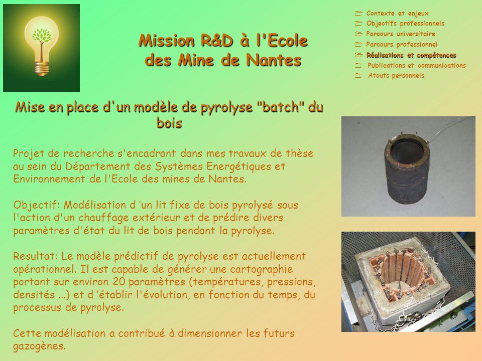 Mission R&D à l Ecole des Mine de Nantes