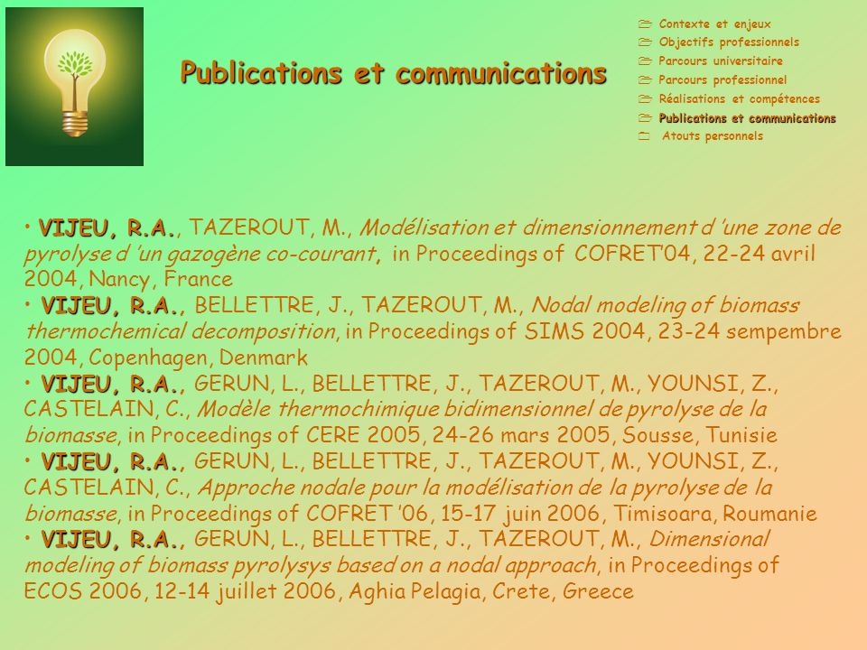 Publications et communications