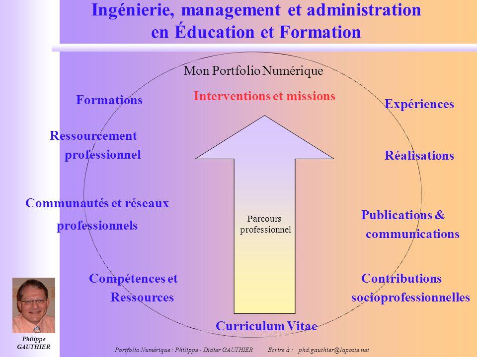 Ingénierie, management et administration en Éducation et Formation