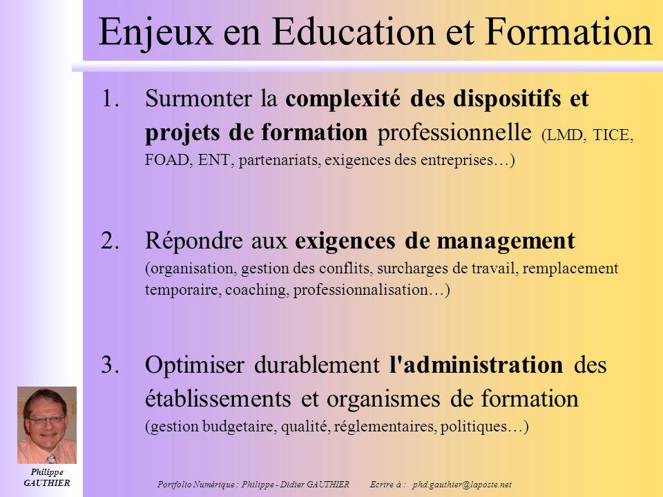 Enjeux en Education et Formation