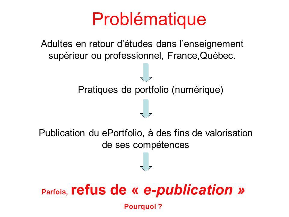 Parfois, refus de « e-publication »