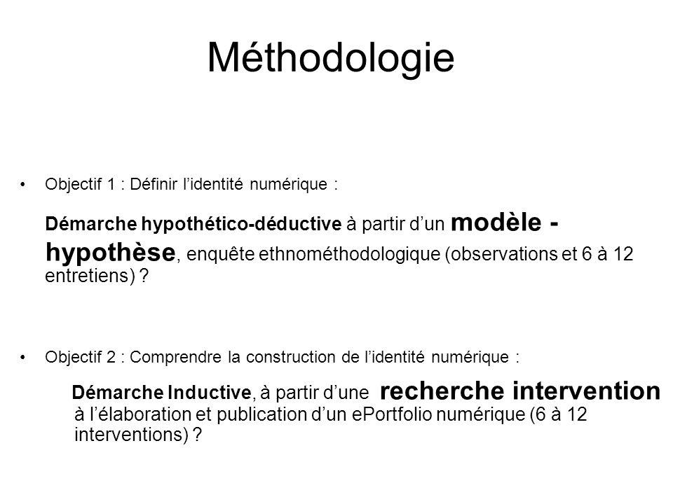 Méthodologie Objectif 1 : Définir l'identité numérique :