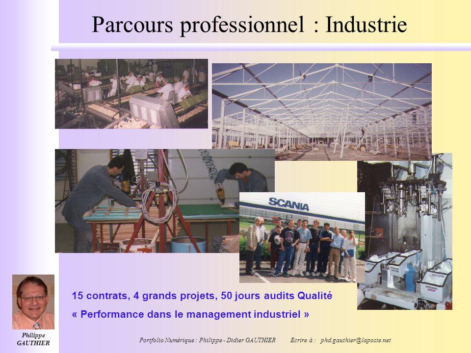 Parcours professionnel : Industrie