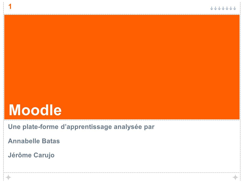Moodle Une plate-forme d'apprentissage analysée par Annabelle Batas