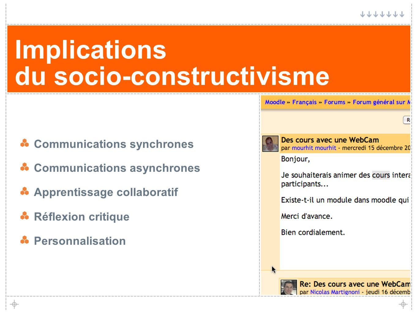 Implications du socio-constructivisme