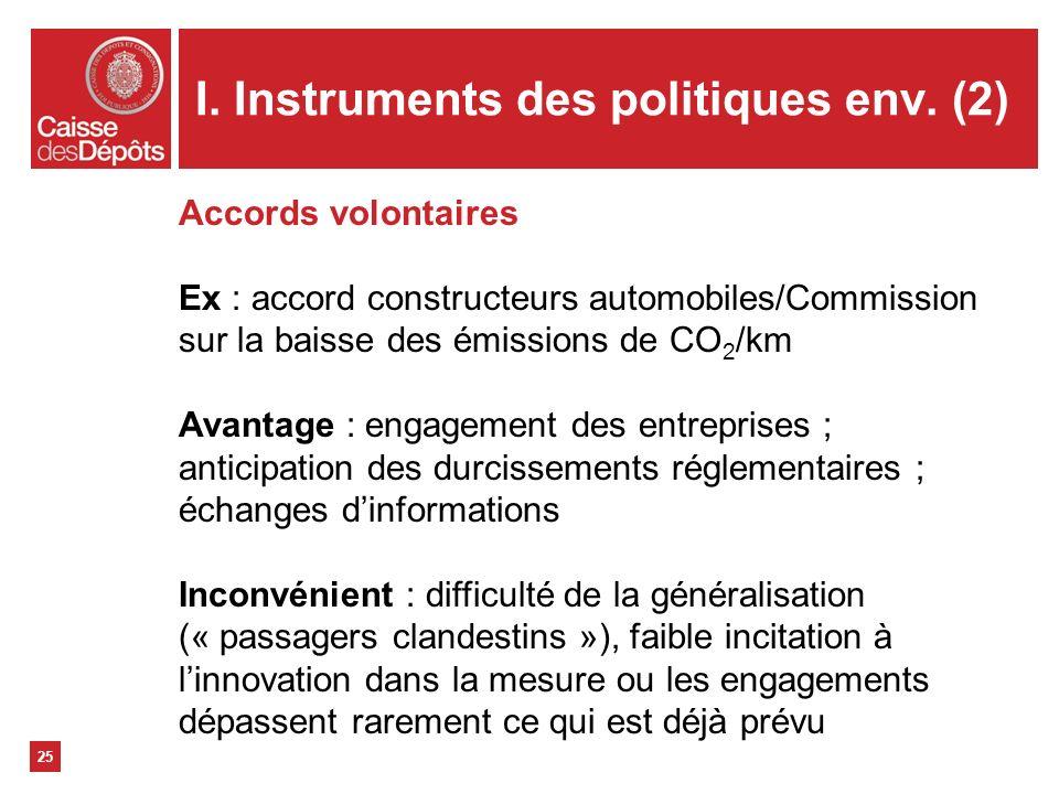 I. Instruments des politiques env. (2)