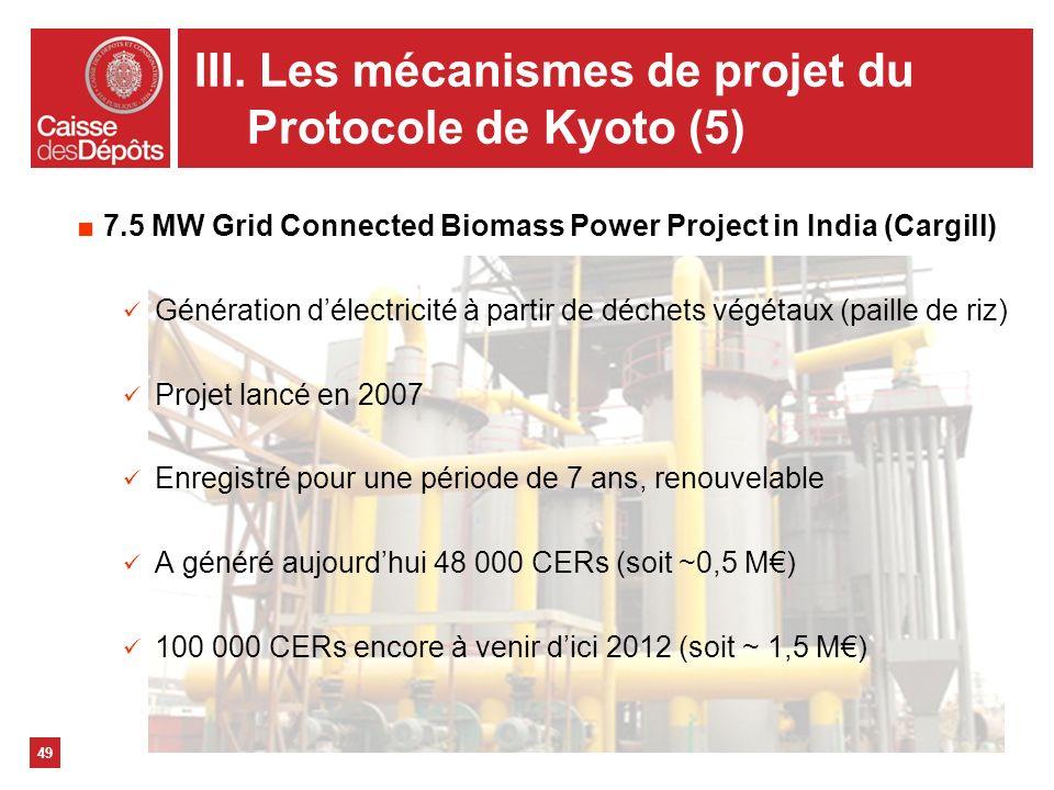 III. Les mécanismes de projet du Protocole de Kyoto (5)