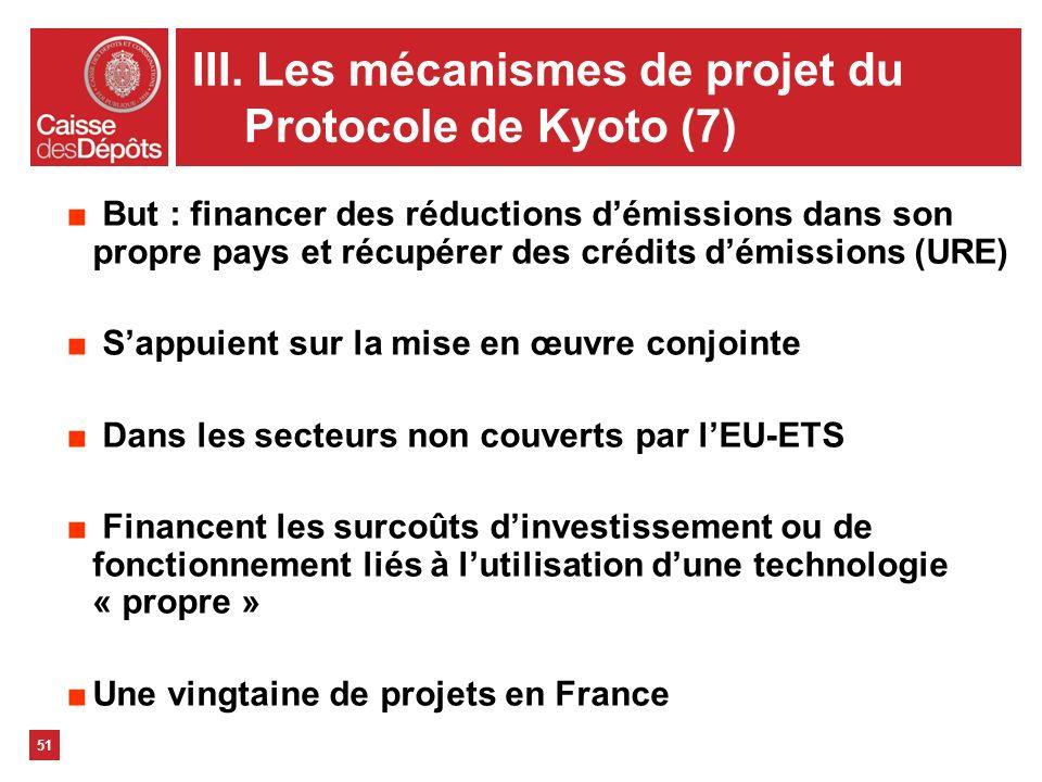 III. Les mécanismes de projet du Protocole de Kyoto (7)