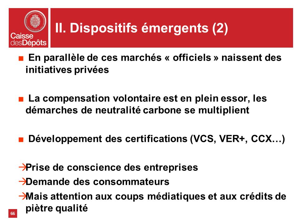 II. Dispositifs émergents (2)