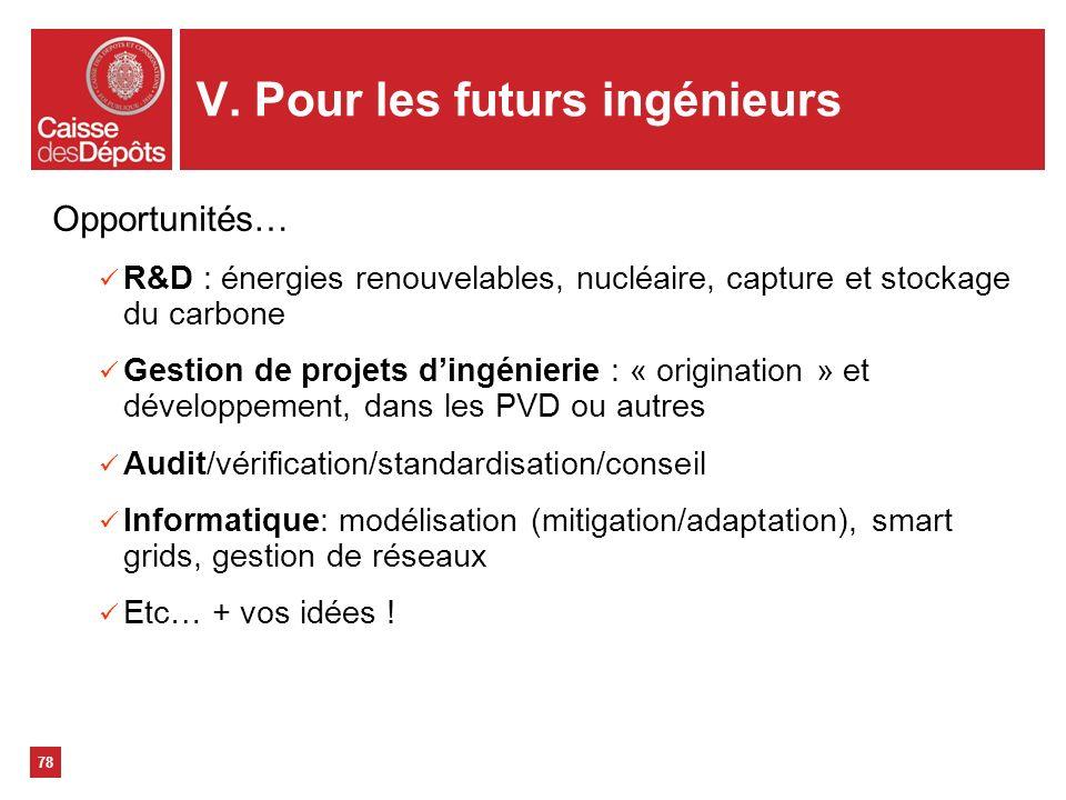 V. Pour les futurs ingénieurs