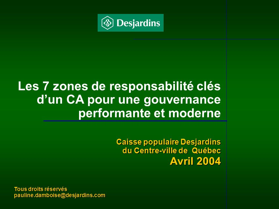Les 7 zones de responsabilité clés d'un CA pour une gouvernance performante et moderne