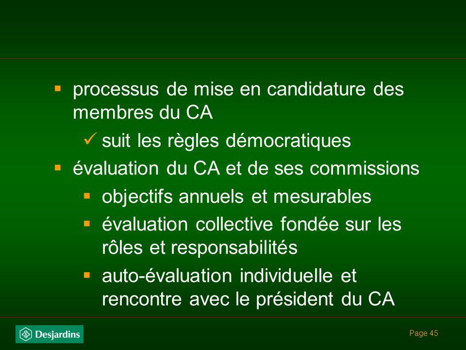 processus de mise en candidature des membres du CA